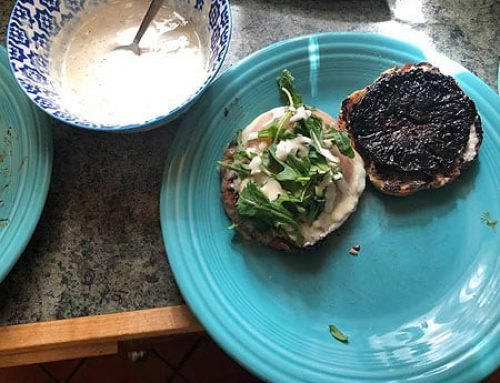 Balsamic Aioli Portobello Burger