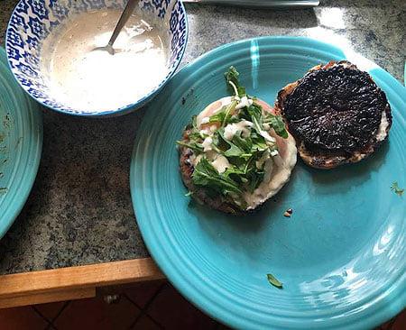 Balsamic Aioli Portobello Burger